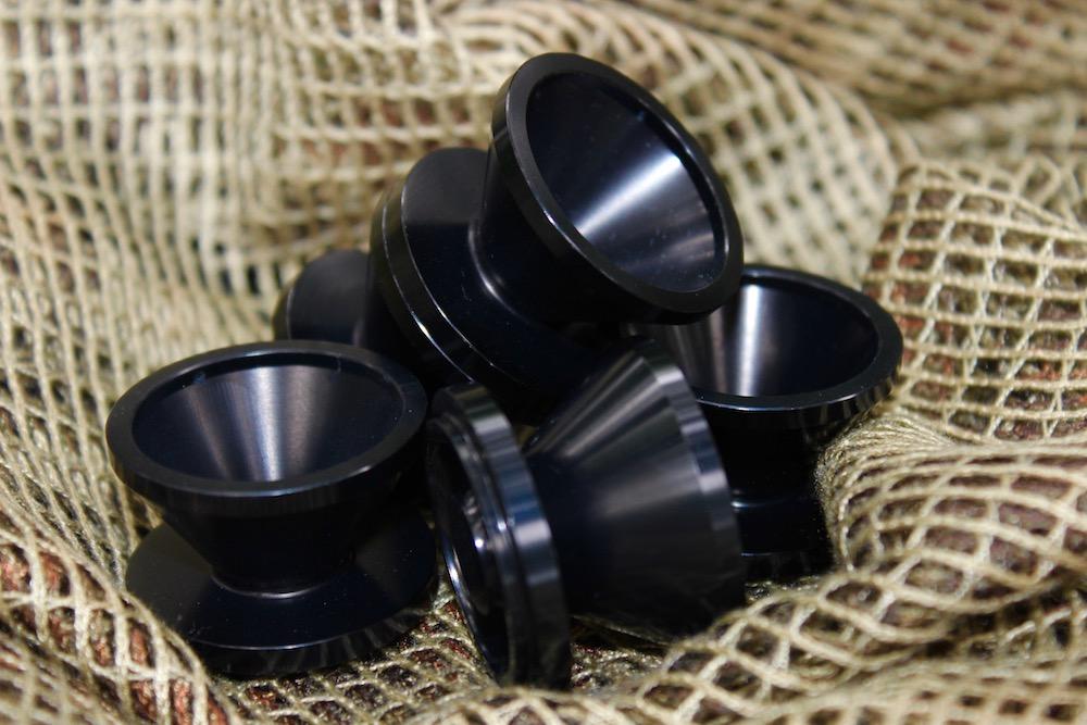 Solvent Trap Cups | D-7075 Anodized Aluminum